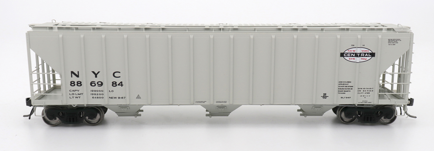 N Scale - InterMountain - 672201-02 - Covered Hopper, 3-Bay, PS-2 - New York Central - 886877