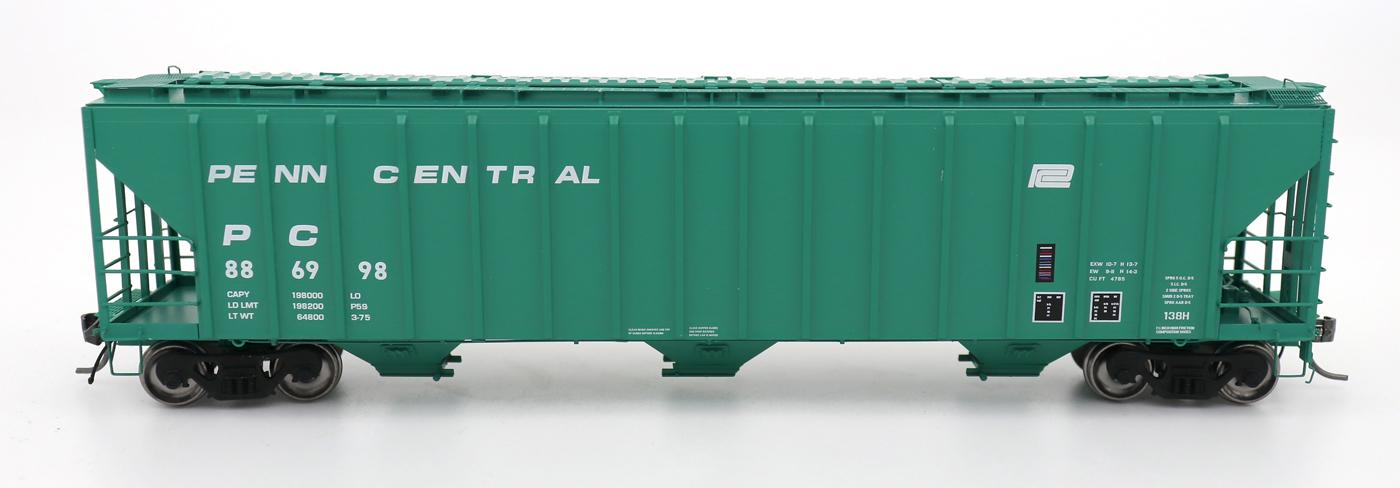 N Scale - InterMountain - 672205-04 - Covered Hopper, 3-Bay, PS-2 - Penn Central - 886924