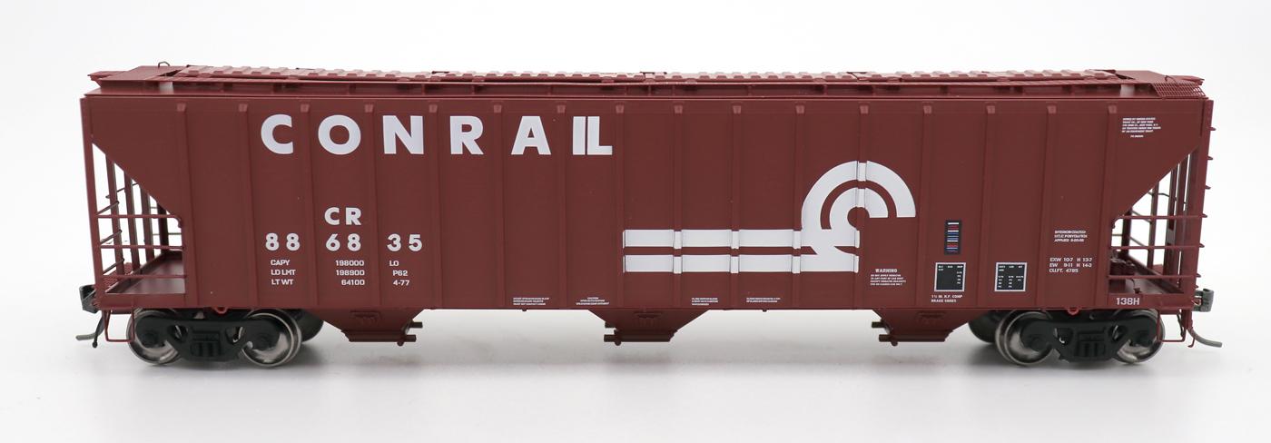 N Scale - InterMountain - 672207-03 - Covered Hopper, 3-Bay, PS-2 - Conrail - 886919