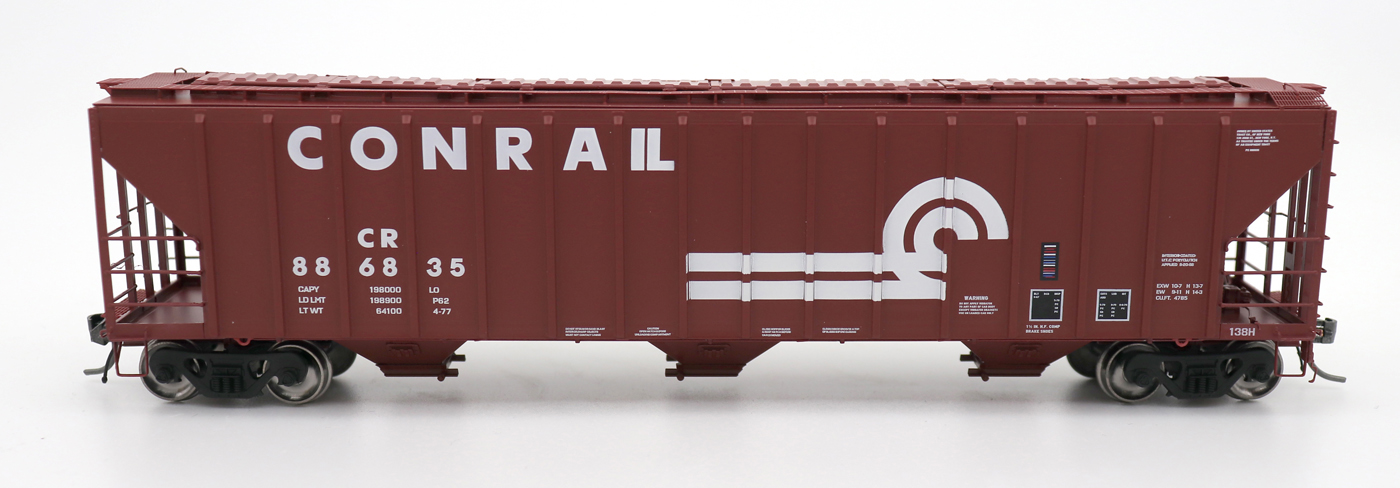 N Scale - InterMountain - 672207-04 - Covered Hopper, 3-Bay, PS-2 - Conrail - 886953