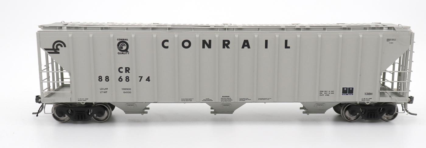 N Scale - InterMountain - 672210-02 - Covered Hopper, 3-Bay, PS-2 - Conrail - 886850