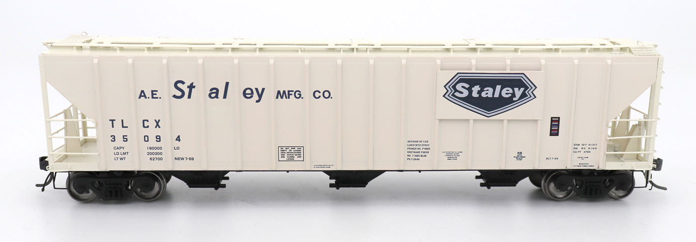 N Scale - InterMountain - 672213-03 - Covered Hopper, 3-Bay, PS-2 - A.E. Staley - 35076
