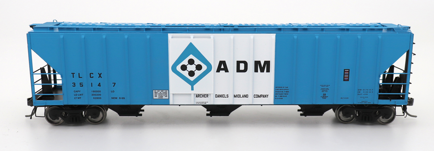 N Scale - InterMountain - 672216-02 - Covered Hopper, 3-Bay, PS-2 - Archer Daniels Midland - 35148