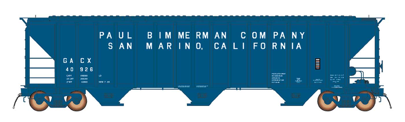 N Scale - InterMountain - 672217-01 - Covered Hopper, 3-Bay, PS-2 - GACX - 40924