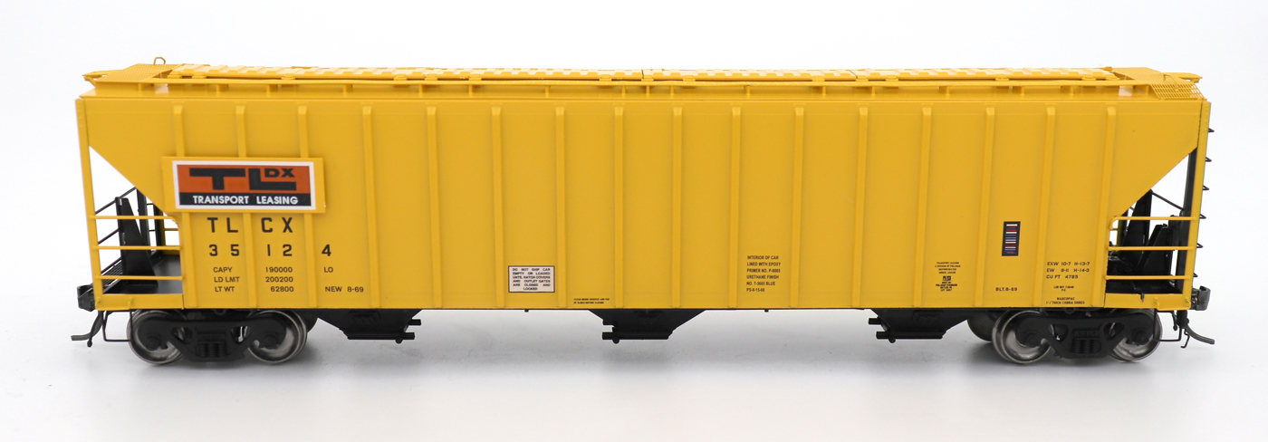 N Scale - InterMountain - 672218-02 - Covered Hopper, 3-Bay, PS-2 - Transport Leasing Company - 35124