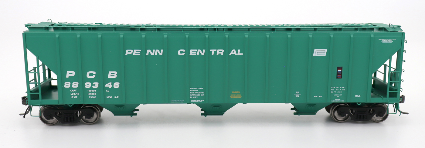 N Scale - InterMountain - 672240-02 - Covered Hopper, 3-Bay, PS-2 - Penn Central - 888904