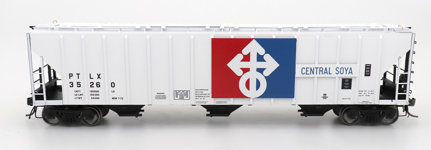 N Scale - InterMountain - 672251-03 - Covered Hopper, 3-Bay, PS-2 - Central Soya - 35248