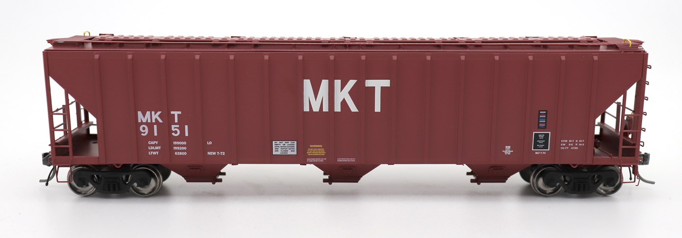 N Scale - InterMountain - 672253-01 - Covered Hopper, 3-Bay, PS-2 - Missouri-Kansas-Texas - 9150