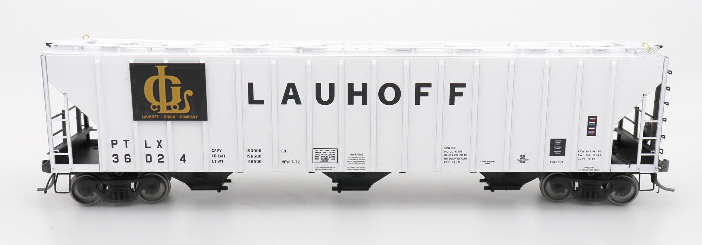 N Scale - InterMountain - 672254-01 - Covered Hopper, 3-Bay, PS-2 - Lauhoff Grain - 36000