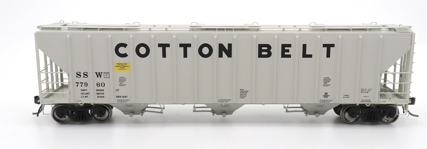 N Scale - InterMountain - 672290-02 - Covered Hopper, 3-Bay, PS-2 - Cotton Belt - 77934