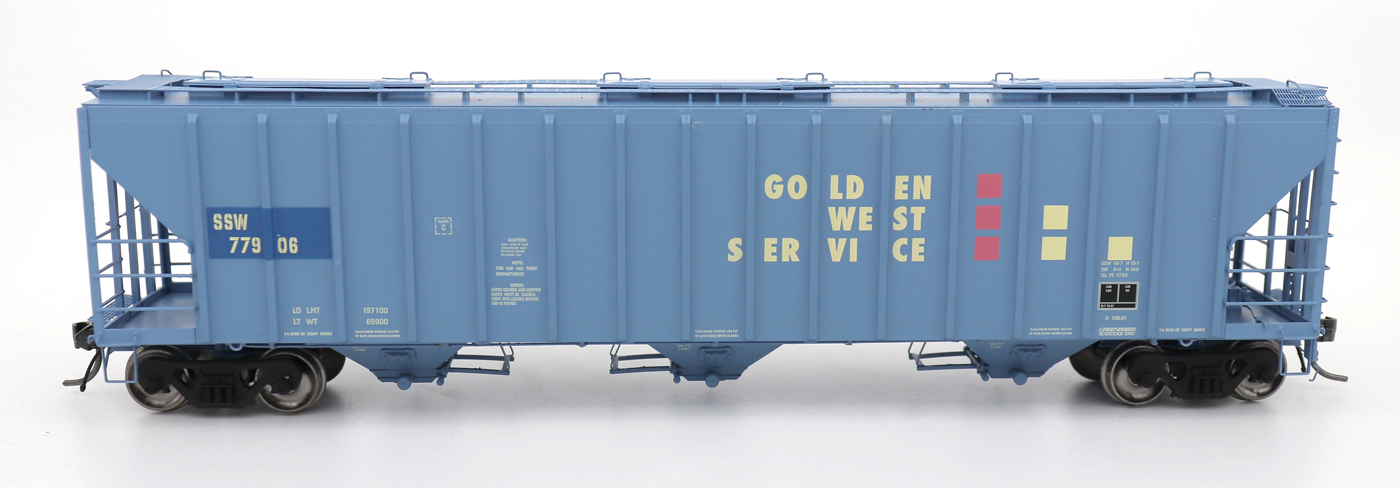 N Scale - InterMountain - 672292-02 - Covered Hopper, 3-Bay, PS-2 - Golden West Service - 77922