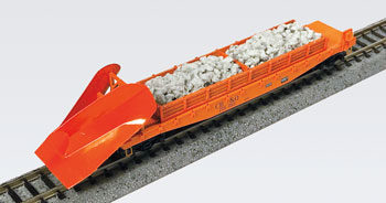 N Scale - Micro-Trains - NSE MTL 19-198 - Flat Car, 50 Foot, Fishbelly, Wedge Plow - Burlington Route - 205065