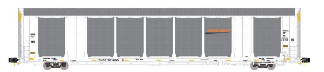 N Scale - ScaleTrains.com - SXT32672 - Autorack, Enclosed, Tri-Level - Burlington Northern Santa Fe - 301835
