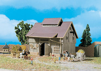 N Scale - Vollmer - 47707 - Structure,  Agricultural, Barn - Agricultural Structures
