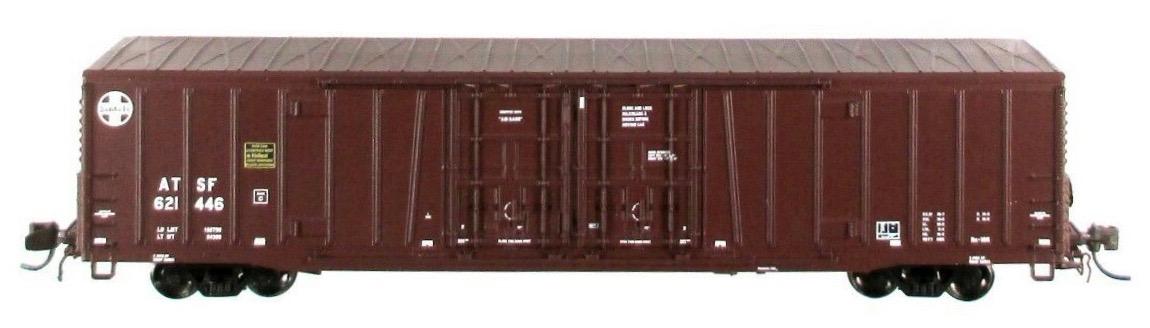 N Scale - BLMA - 18024 - Boxcar, 62 Foot, BX-166 - Santa Fe - 621517