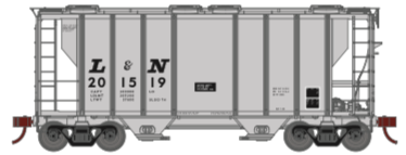 N Scale - Athearn - 17047 - Covered Hopper, 2-Bay, PS2 - Louisville & Nashville - 201519