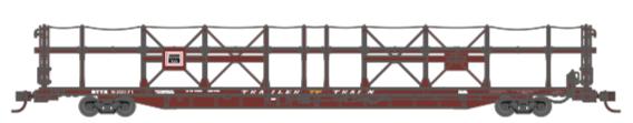 N Scale - Athearn - 15034 - Autorack, Open Side, Bi-Level, F89-F - Burlington Route - 930180