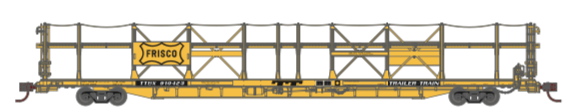 N Scale - Athearn - 15035 - Autorack, Open Side, Bi-Level, F89-F - Frisco - 910423