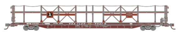 N Scale - Athearn - 15039 - Autorack, Open Side, Bi-Level, F89-F - Illinois Central - 930363