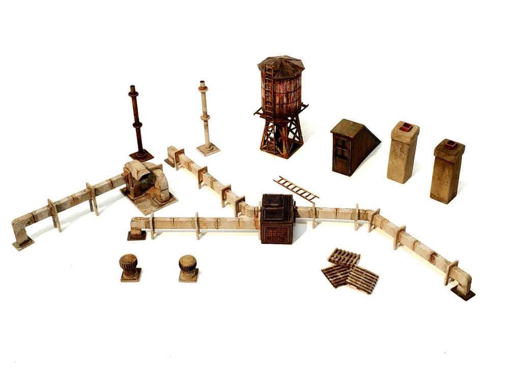 N Scale - ITLA - N3154 - Industrial Structures