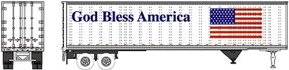 N Scale - Brooklyn Locomotive Works - BLW-PT01 - Trailer, 45 Foot, Pines