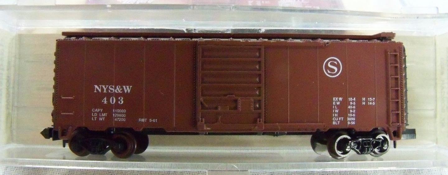 N Scale - Squeak N Products - 0035 - Boxcar, 40 Foot, PS-1 - Susquehanna - 404