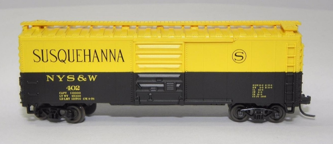 N Scale - Squeak N Products - 0041 - Boxcar, 40 Foot, PS-1 - Susquehanna - 402