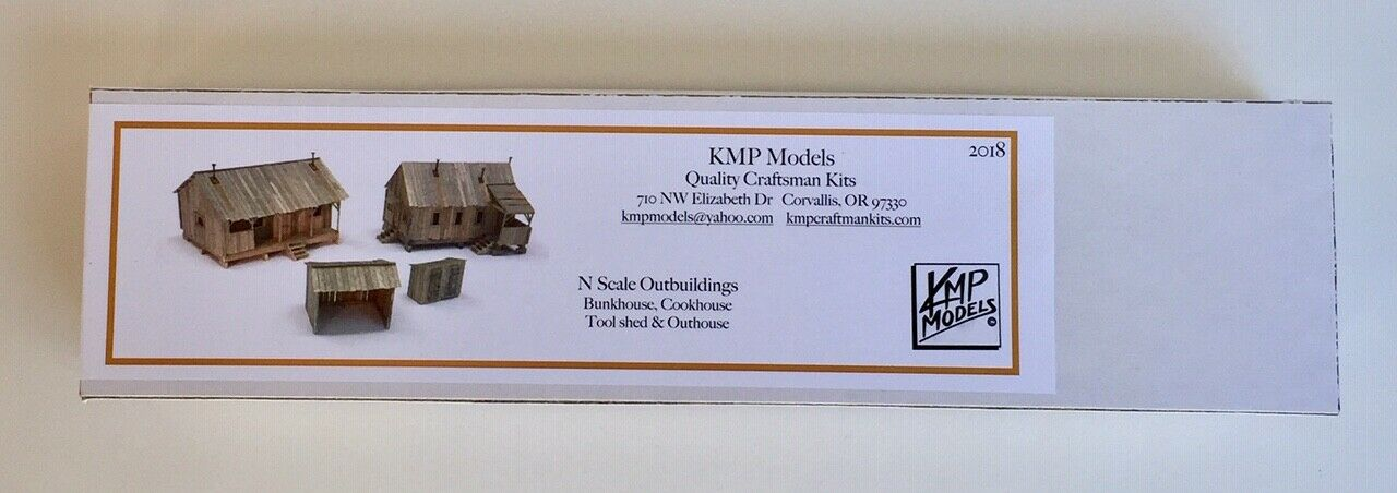 N Scale - KMP Models - N-Outbuildings - Structure, Building, Bunk House, Cook House, Shed, Outhouse - Industrial Structures