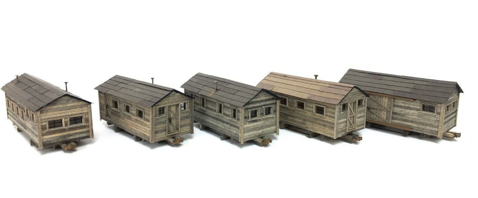 N Scale - KMP Models - N-Camp Cars - Structure, Log Camp Cars - Industrial Structures