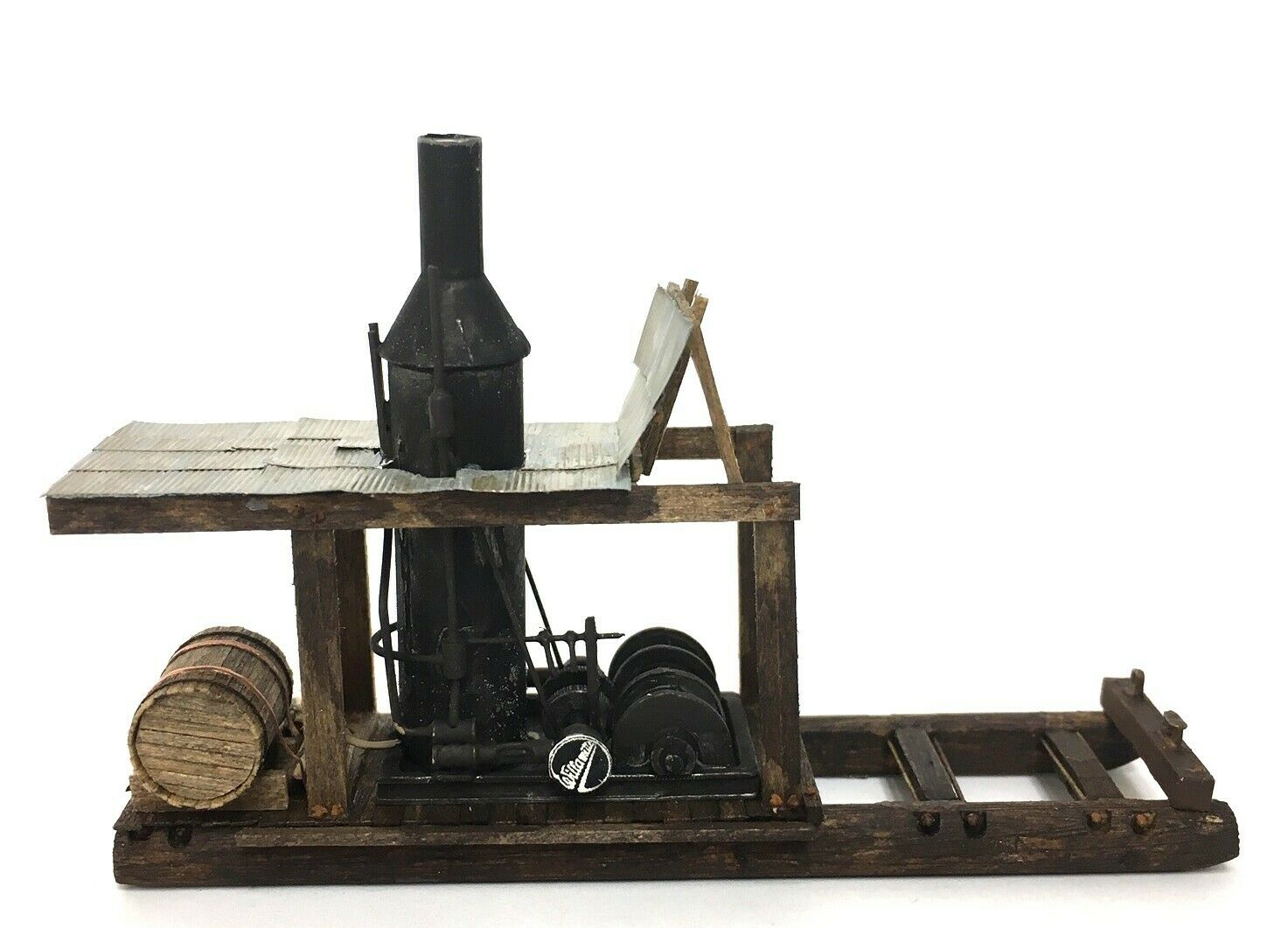 N Scale - KMP Models - N-Yarder Donkey - Structure,Industrial,Yarder Steam Donkey - Industrial Structures