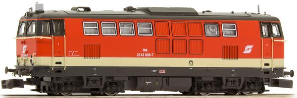 N Scale - Jägerndorfer - 61010 - Locomotive, Diesel,  ÖBB 2143 - ÖBB (Austrian Federal Railways) - 2143 008-7