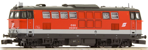 N Scale - Jägerndorfer - 61020 - Locomotive, Diesel,  ÖBB 2143 - ÖBB (Austrian Federal Railways) - 2143 021-0