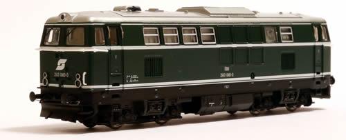 N Scale - Jägerndorfer - 61040 - Locomotive, Diesel,  ÖBB 2143 - ÖBB (Austrian Federal Railways) - 2143 040-0