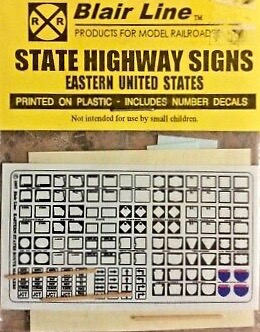 N Scale - Blair Line - 048 - Signs, Traffic, Highway Markers - Railroad Structures