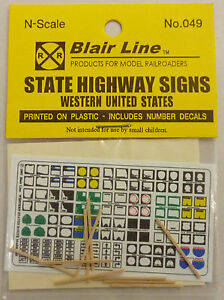 N Scale - Blair Line - 049 - Signs, Traffic, Highway Markers - Railroad Structures