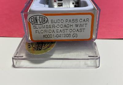 N Scale - Con-Cor - 0001-041308(2) - Passenger Car, Lightweight, Budd, Slumbercoach - Florida East Coast - Fort Pirece