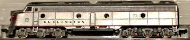 N Scale - Life-Like - 7207 - Locomotive, Diesel, EMD E8 - Burlington Route - 9948B