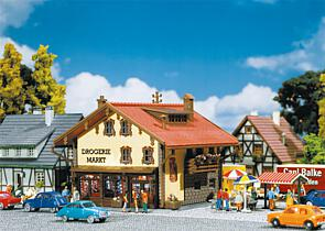 N Scale - Faller - 231709 - Structure, Building, Commercial,Chemist's Shop, Drugstore - Commercial Structures