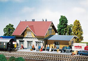 N Scale - Faller - 231710 - Structure, Building, Railroad, Station - Railway Station