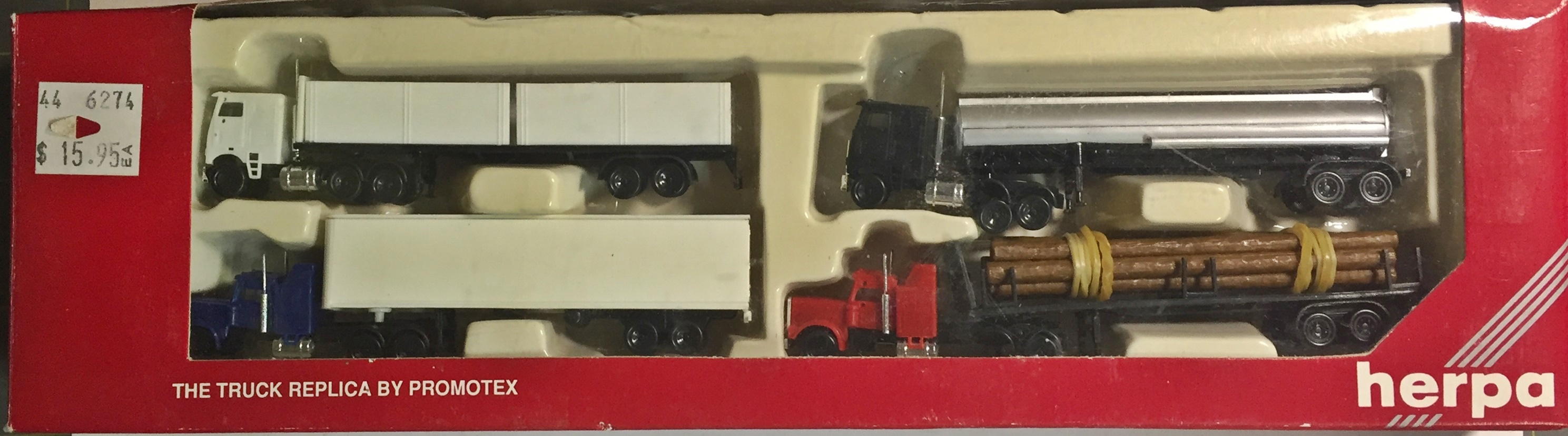 N Scale - Herpa - 6274-4 - Tractor-Trailer, Modern - Painted/Unlettered