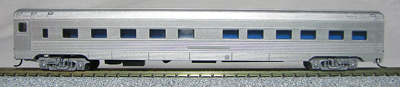 N Scale - Con-Cor - 4011UN - Passenger Car, Smoothside - Undecorated - 5 car set
