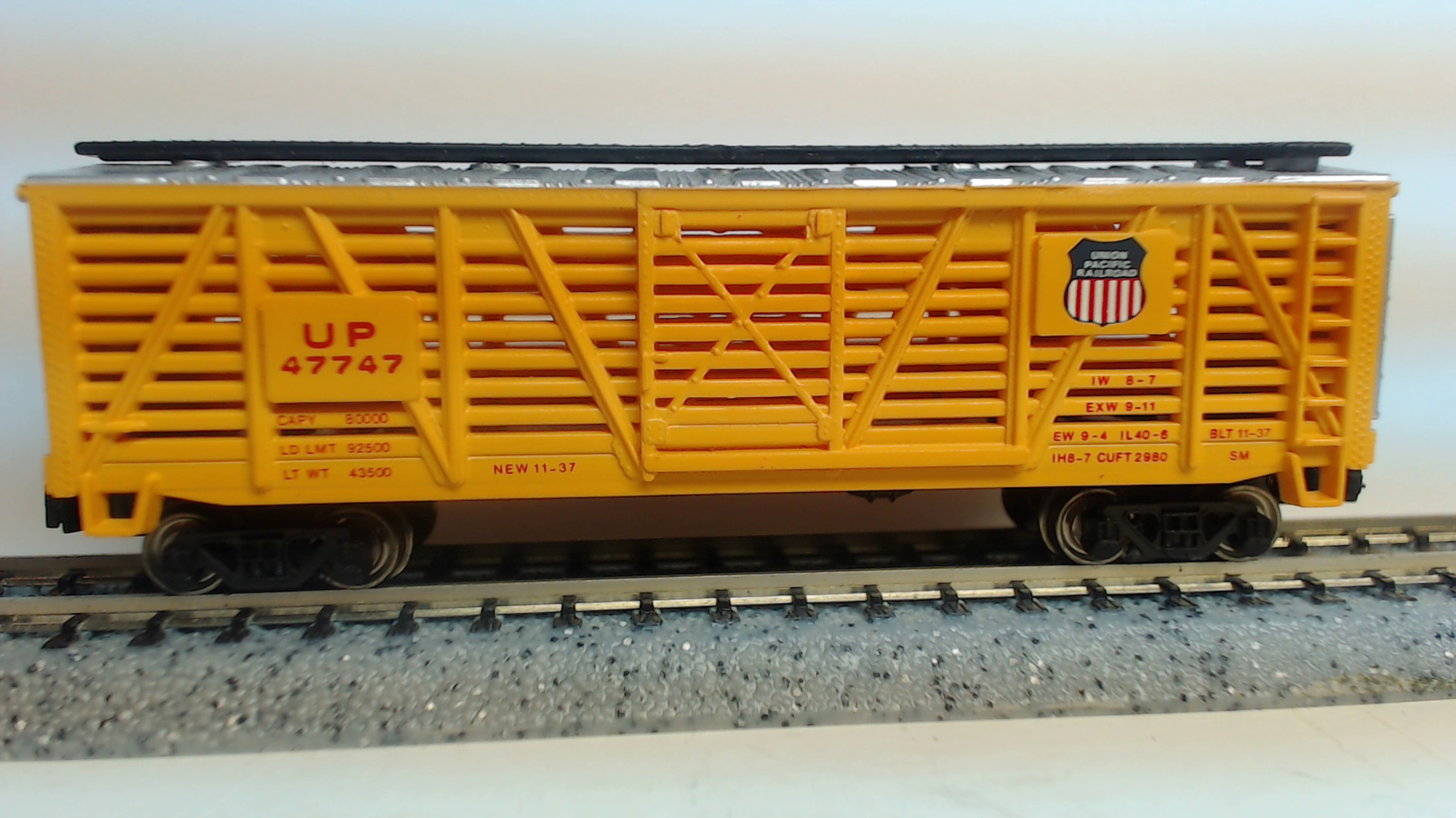 N Scale - Bachmann - 71551 - Stock Car, 40 Foot - Union Pacific - 47747