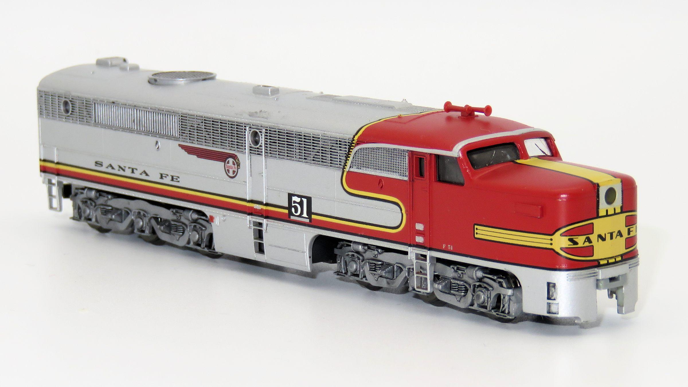 N Scale - Brawa - 1085 - Locomotive, Diesel, Alco PA-1 - Santa Fe - 51