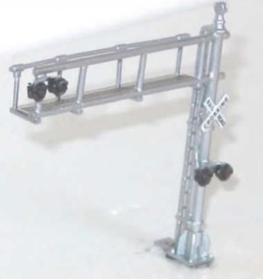 N Scale - NJ International - 2191 - Over Road Crossing Signal - Painted/Unlettered