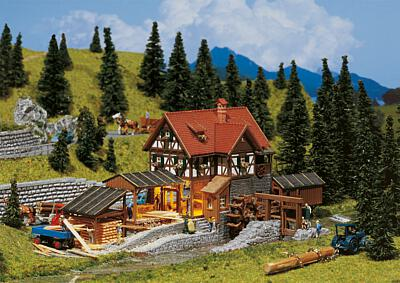 N Scale - Faller - 252255 - Ready-Made, Structure,Commercial, Sawmill - Commercial Structures