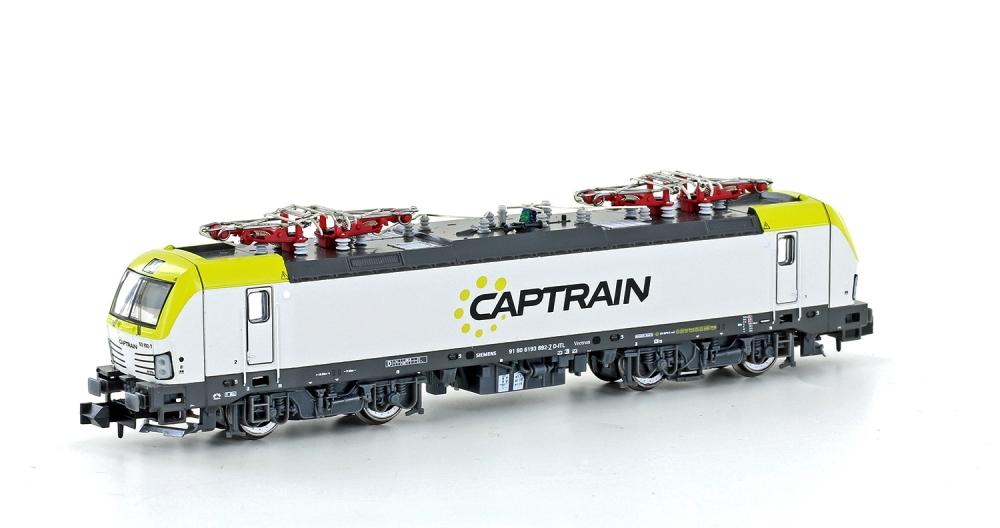N Scale - Hobbytrain - H2978S - Locomotive, Electric, Siemens Vectron - Captrain - 91 80 6193 892-7
