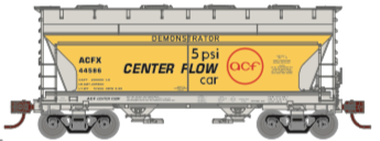 N Scale - Athearn - 24666 - Covered Hopper, 2-Bay, ACF Centerflow - American Car & Foundry - 44504