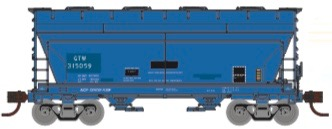 N Scale - Athearn - 24669 - Covered Hopper, 2-Bay, ACF Centerflow - Grand Trunk Western - 315061