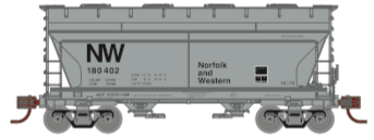 N Scale - Athearn - 24675 - Covered Hopper, 2-Bay, ACF Centerflow - Norfolk & Western - 180423