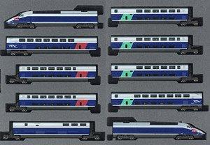 N Scale - Kato Lemke - 10-1529 - Passenger Train, Electric, TGV - SNCF